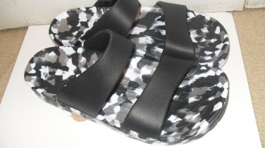 Pali Hawaii Sandals PH119 size 11 speckled black/white -1 PAIR