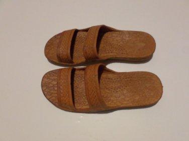 Pali Hawaii Sandals PH405 SIZE 10 DARK BROWN 1 Pair