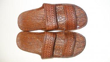 Pali Hawaii Sandals PH405 SIZE 7 DARK BROWN 1 Pair