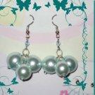 Aqua pearl earrings