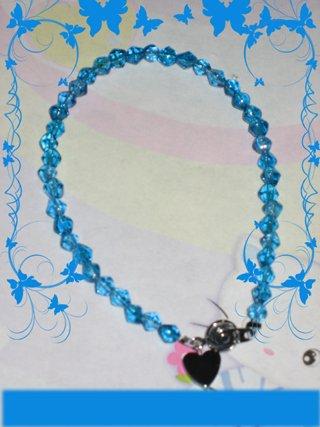 swarovski like blue bracelet