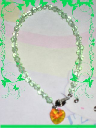 swarovski like green bracelet