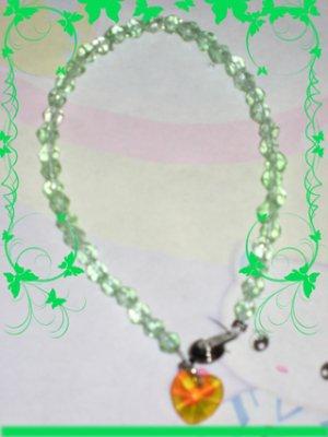 swarovski like green bracelet