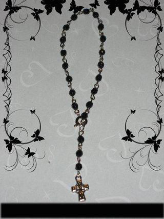 black with cross bracelet