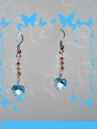 Swarovski aquamarine earrings