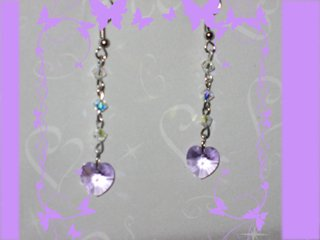 Swarovski lavander earrings