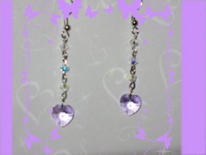 Swarovski lavander earrings