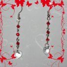 Swarovski red earrings