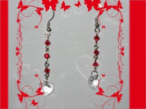 Swarovski red earrings