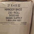 hanger bags lot roll 21x4x52 sig53165 sig21045275gbvp tshirt bags