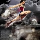 Wonder Woman Flying - Autographed Headshot