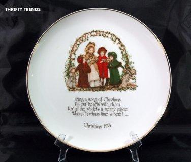 1974 Holly Hobbie Commemorative Edition Christmas Plate