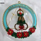 Vintage 1988 Enesco 'Five Golden Rings' Ornament - New old Stock