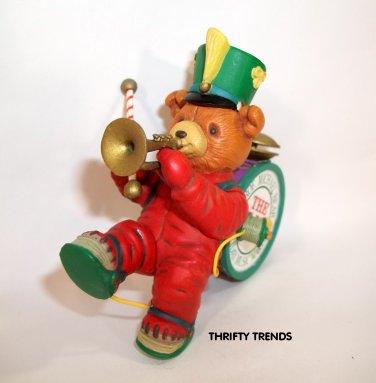Vintage 1990 Enesco Prof. Michael Bear, The One Bear Band Ornament - New