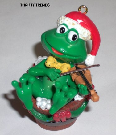 Vintage 1992 Enesco Merry Mistle-Toad Ornament - New Old Stock