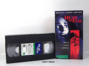 HEAR NO EVIL with Marlee Matlin & D.B. Sweeney ~ (VHS) VG