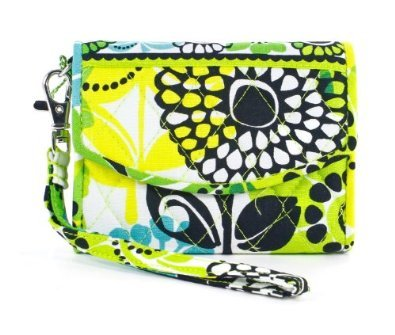 Vera Bradley Super Smart Wristlet smartphone wallet ID coin case Lime's Up  NWT  reader case