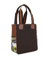 Vera Bradley Small Colorblock Tote Cocoa Moss NWT  travel tablet reader bag