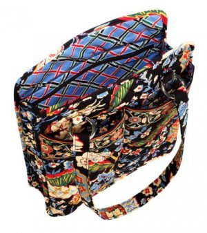 Vera Bradley Perfect Pocket Tote in Versailles - laptop, baby diaper, carryon, overnight