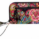 Vera Bradley Zip Around Wallet wristlet clutch Symphony in Hue • organizer NWT