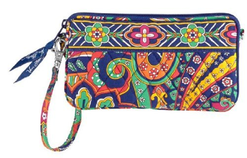 Vera Bradley Wristlet Venetian Paisley  new gusseted style tech case  NWT Retired