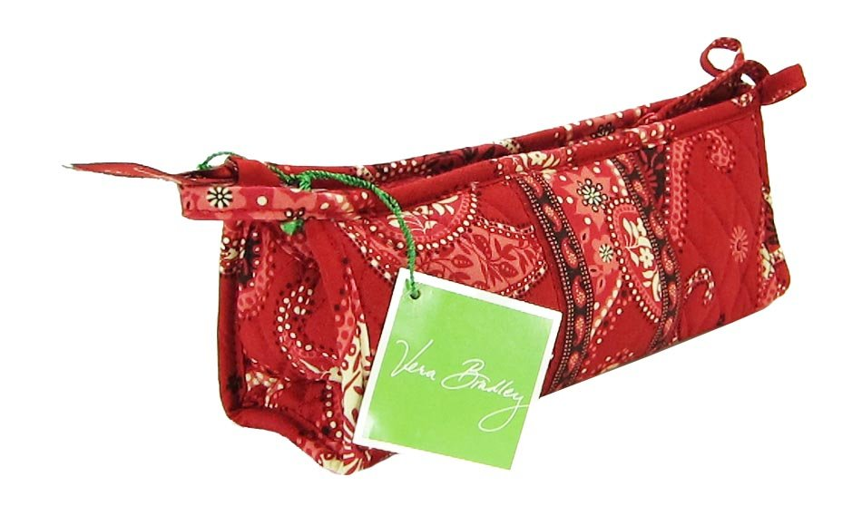 Vera Bradley Small Bow Cosmetic Mesa Red NWT Retired - brush and pencil travel tech case Summer