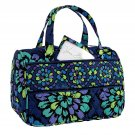 Vera Bradley Lunch Date in Indigo Pop Retired NWT insulated travel bottle cosmetic case