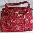Vera Bradley Mesa Red Betsy purse shoulder bag tablet e-reader tote NWT Retired