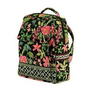 Vera Bradley Large Backpack in Botanica  NWT Retired  overnight laptop weekend carryon