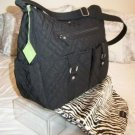 Vera Bradley Baby Bag black microfiber diaper weekender NWT Retired