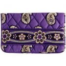 Vera Bradley One For The Money Wallet kisslock coin cosmetic tech case Simply Violet NWT Retired