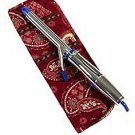 Vera Bradley Curling Iron flatbrush Cover Mesa Red  NWT Retired straighten up curl