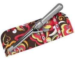 Vera Bradley Curling Iron flatbrush Cover Puccini NWT Retired straighten up curl