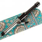 Vera Bradley Curling Iron flatbrush Cover Totally Turq  NWT Retired straighten up curl turquoise
