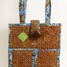Vera Bradley Tiki Tote Bali Blue laptop portfolio travel shoulder bag NWT Retired