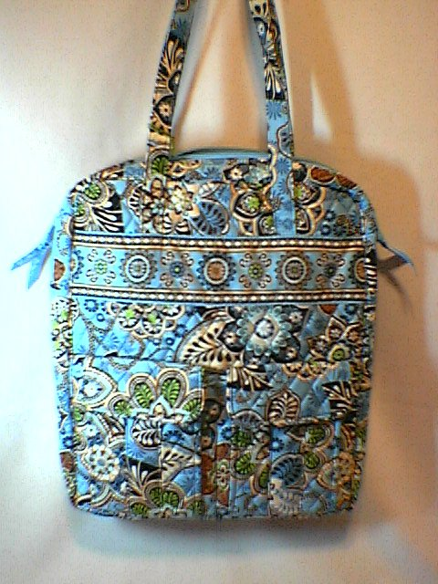 Vera Bradley Tall Zip Tote Bali Blue NWT Retired laptop carryon commuter tablet case
