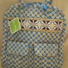 Vera Bradley Tall Zip Tote Riviera Blue NWT Retired laptop carryon commuter tablet case