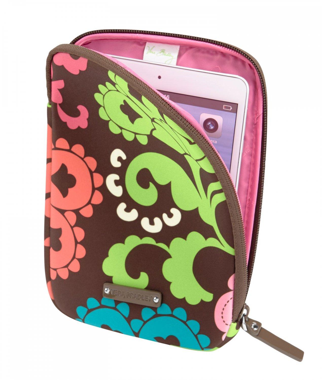 Vera Bradley Neoprene Tablet Sleeve Lola brown NWT  reader iPad case packing cube