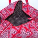 Vera Bradley Small Duffel Frankly Scarlet NWT Retired satchel gym bag