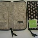 Vera Bradley Travel Organizer zip around wallet  Classic Black  Retired NWT passport boarding