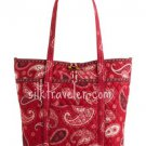 Vera Bradley Mesa Red Vera XL Tote  NWT Retired shoulder bag overnighter