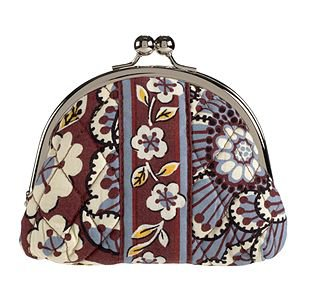 Vera Bradley Double Kiss coin Slate Blooms NWT Retired