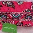 Vera Bradley One For The Money Wallet kisslock coin Call Me Coral  cosmetic tech case  NWT Retired