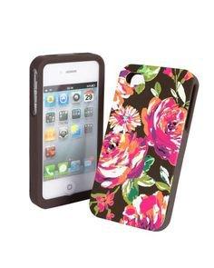 Vera Bradley English Rose iPhone 4 4S hardshell smartphone case Retired NIB