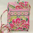 Vera Bradley Mini Hipster Pinwheel Pink NWT Retired crossbody swing travel wallet on string