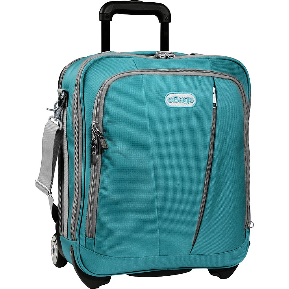 eBags tls Vertical Mobile Office Tropical Turquoise wheeled laptop tech case  NWT