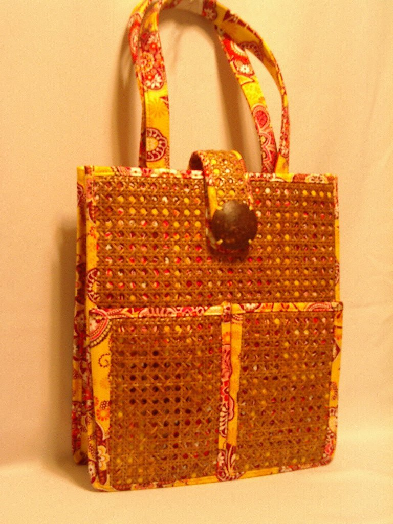 Vera Bradley Tiki Tote Bali Gold lapto portfolio travel shoulder bag NWT Retired