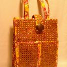 Vera Bradley Tiki Tote Bali Gold lapto portfolio travel shoulder bag NWT Retired