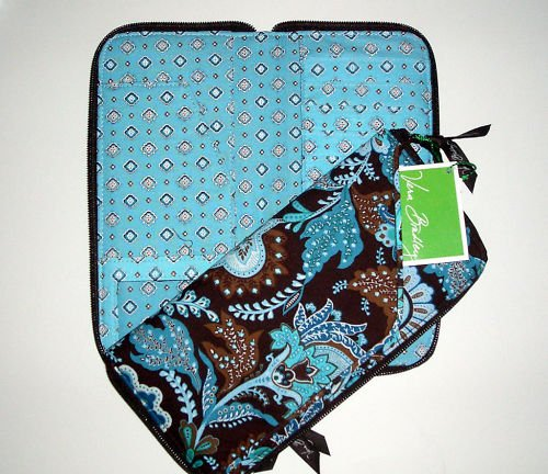 Vera Bradley Travel Organizer zip around wallet  Java Blue original  Retired NWT document holder