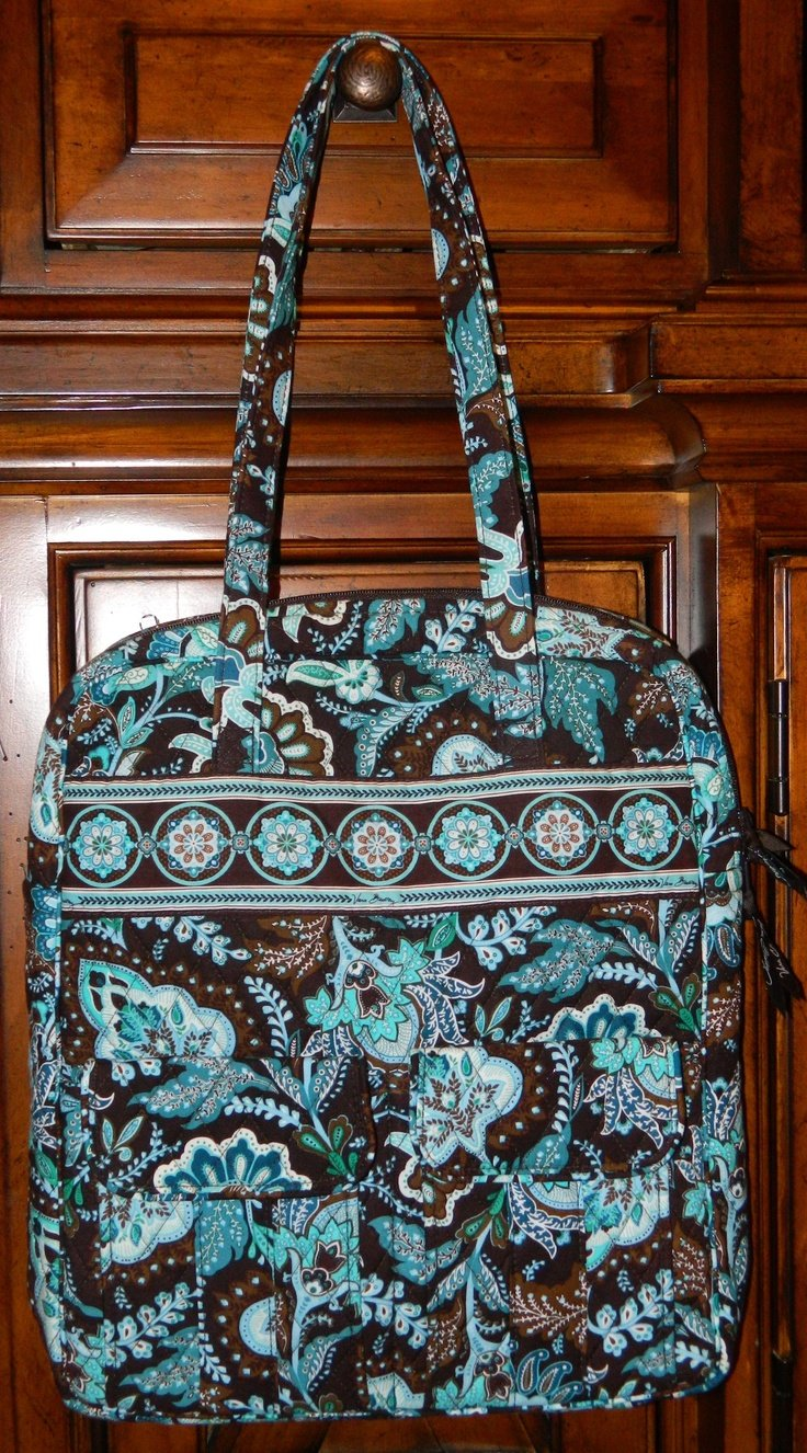 Java Blue Tall Zip Tote by Vera Bradley  retired and hard-to-find NWT commuter laptop baby bag